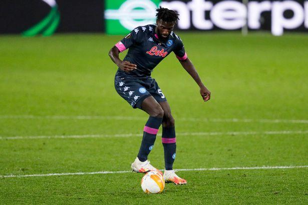 Tiemoué Bakayoko playing for Napoli