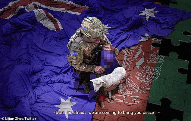 China attacks Australia with vile fake image of soldier and Afghan child