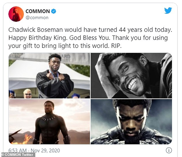 Common remembers the late Chadwick Boseman on what would have been his 44th birthday