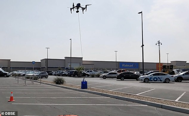 Coronavirus test kits will be delivered by DRONE to residents in El Paso Texas who live near Walmart