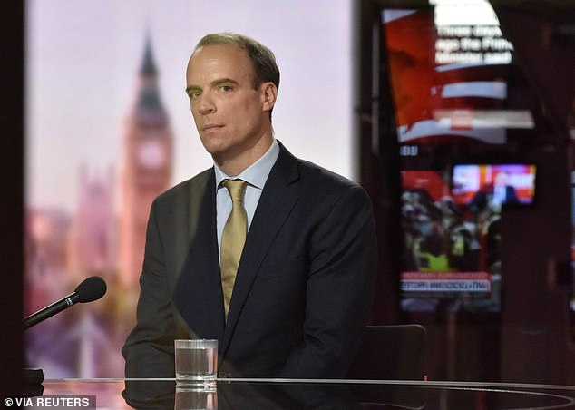 Dominic Raab accuses EU of 'moving the goal posts' on trade talks