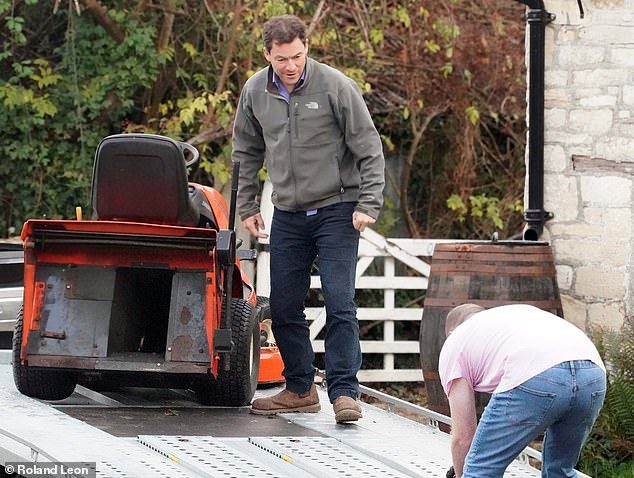 Dominic West hits back at 't**t' lawnmower deliveryman who 'grassed him up' over Lily James 'affair'