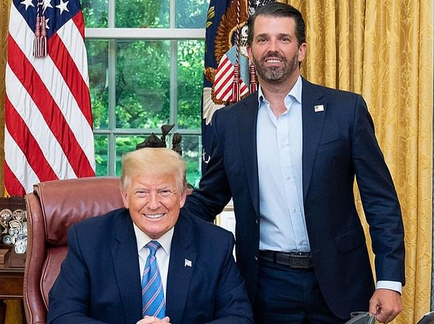 Don Jr thanks Trump for 'fighting so hard for America' – just before Biden is announced as President