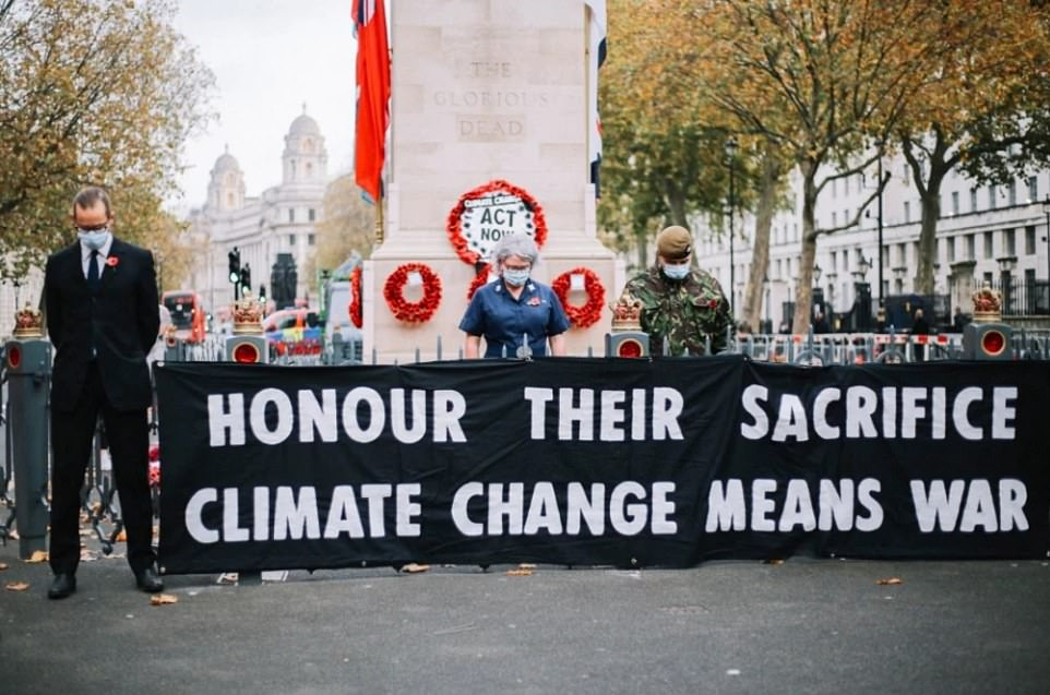 Extinction Rebellion activists hijack the Cenotaph on Remembrance Day in climate change protest