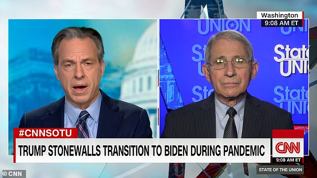 Fauci says 'it would be better' if health officials could start working with Biden's transition team