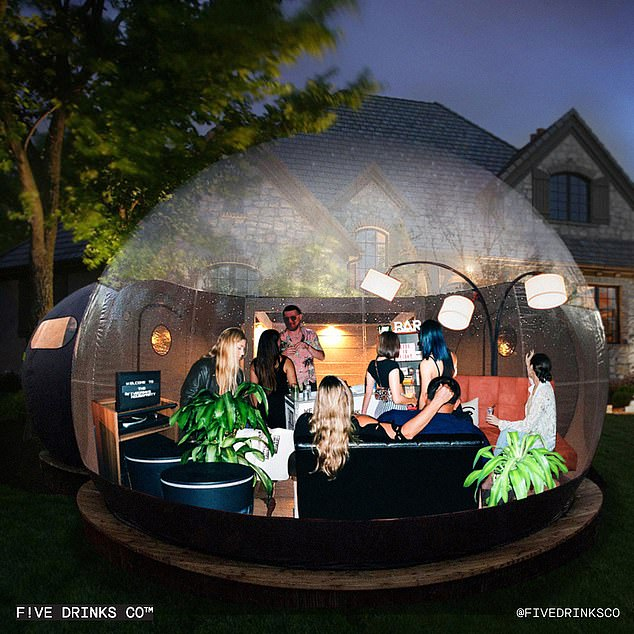 Five Drinks Co. selling $5,500 bubble tent stocked with seating, a sound system, and cocktails