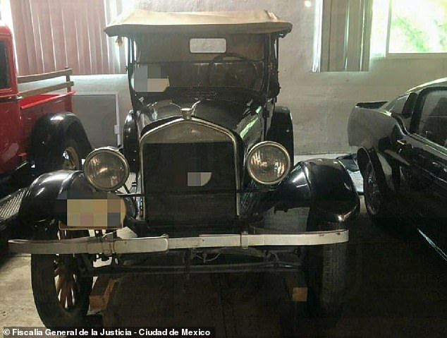 Fleet of classic cars seized from mansion of fugitive Mexico City top cop who stole $14.1 million