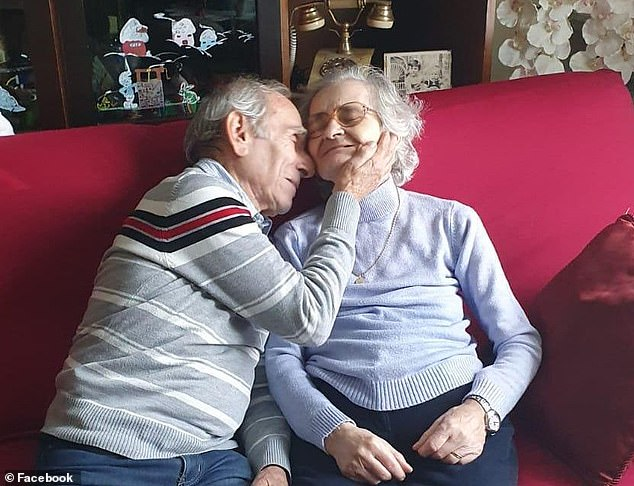 Italian woman serenaded by her accordion-playing husband when they were kept apart by Covid has died