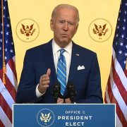 Joe Biden makes upbeat Thanksgiving address to the nation