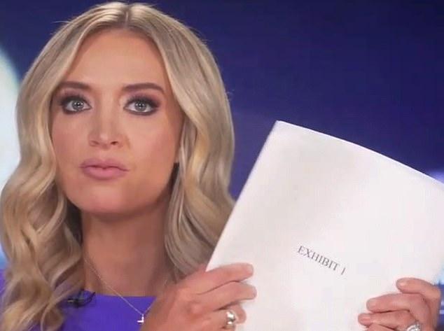 Kayleigh McEnany brandishes 200 affidavits alleging voter fraud