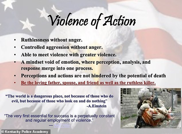 Kentucky State Police comes under fire for using Hitler quote in training slideshow