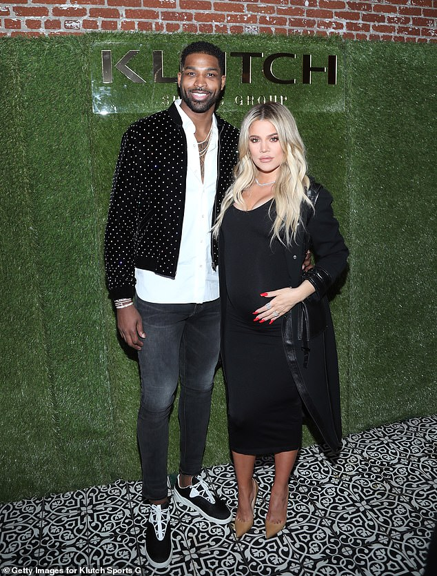 Commuting: Khloe Kardashian, 36, and Tristan Thompson, 29, will reportedly split time between Boston and Los Angeles, according to US Weekly's sources; pictured together February 17, 2018 in LA