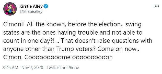 Kirstie Alley Scott Baio lead furious conservative celebrities reject Donald Trump's election defeat