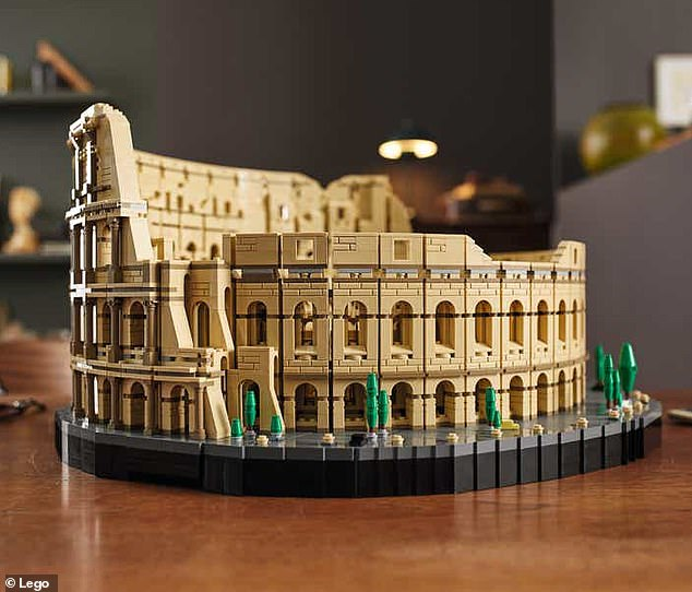 Lego unveils its largest ever set – a 9,036-piece Roman Colosseum that takes two-weeks to finish