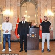 MMA fighters are honoured in Austria for racing through hail of bullets during terror attack