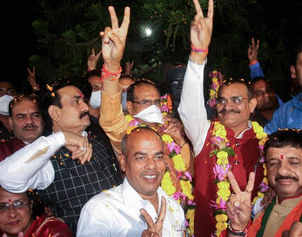 MP bypolls: BJP wins 19 out of 28 seats, Congress bags nine