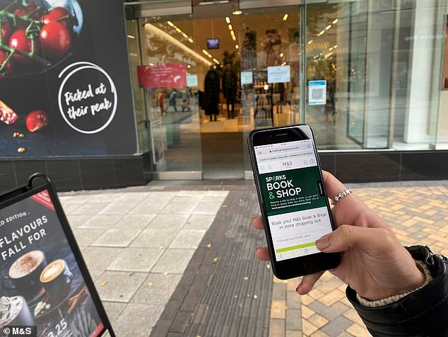 M&S shoppers can book timed slots to do their food shop as new lockdown looms