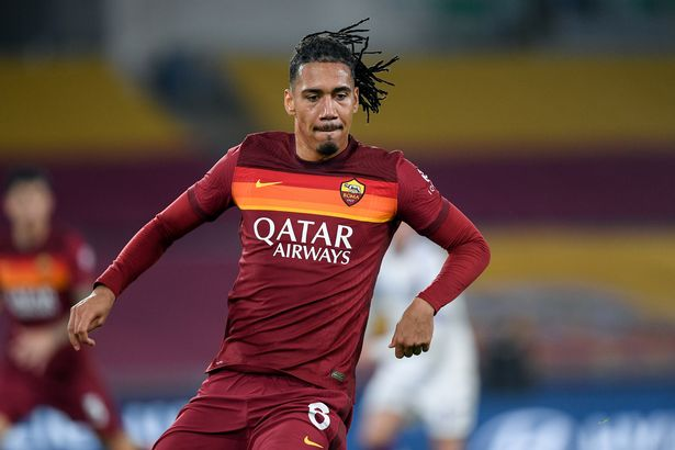 Chris Smalling playing for Roma