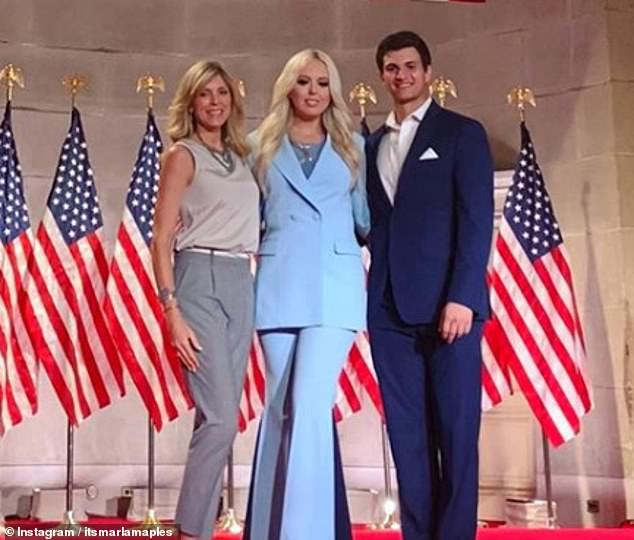 Marla Maples says Tiffany Trump's boyfriend is 'like a son to her'