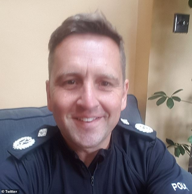 Married senior policeman 'is caught arranging an affair with one of his officers'