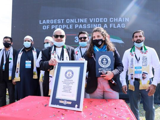 Massive UAE flag video by Indian school in Sharjah sets Guinness record