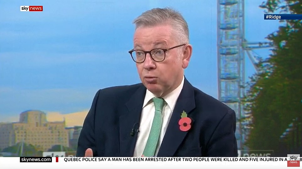 Michael Gove says four-week November shutdown could be EXTENDED if it fails to tackle Covid