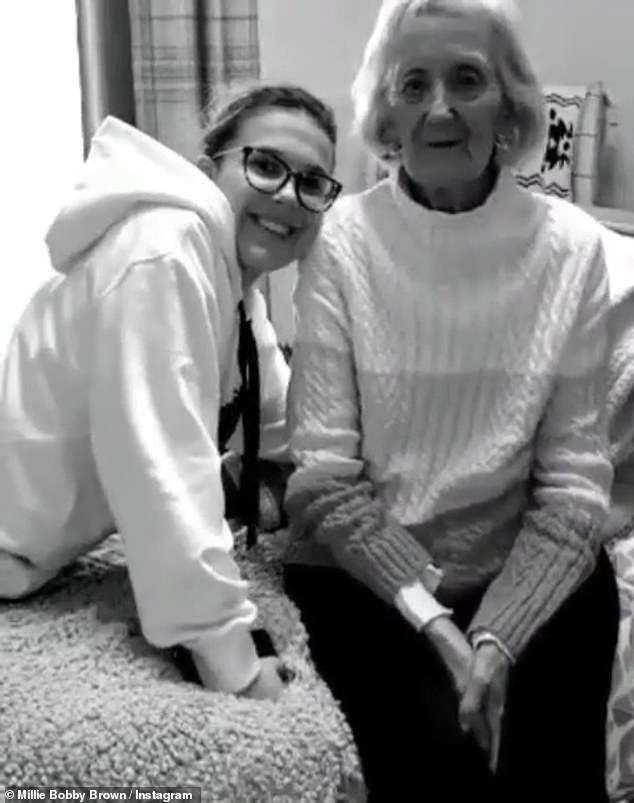 Millie Bobby Brown pens tribute to her grandmother who has died from Alzheimer's