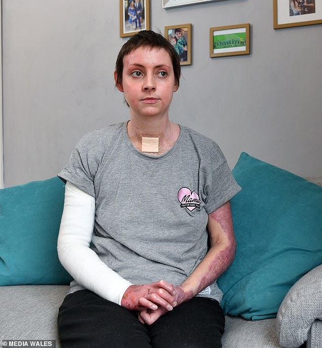 Mother was left fighting for life with her sons when a gas explosion destroyed their home