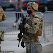 National Guard patrol the streets of Philadelphia as votes continue to be counted