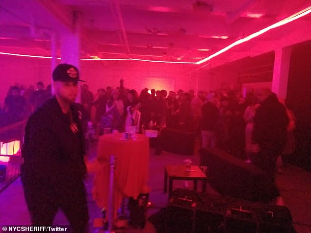 New York sheriffs found a large crowd indoors ignoring COVID restrictions on Saturday night