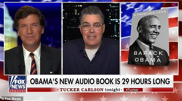 Obama is dubbed an 'ego maniac' over his new 29 hour long audio book