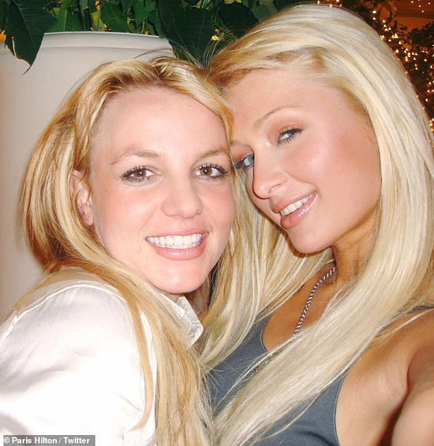 Trendsetter: Paris Hilton, right, declared herself the inventor of the selfie, as she shared a 14-year-old photo alongside Britney Spears, left, on Friday