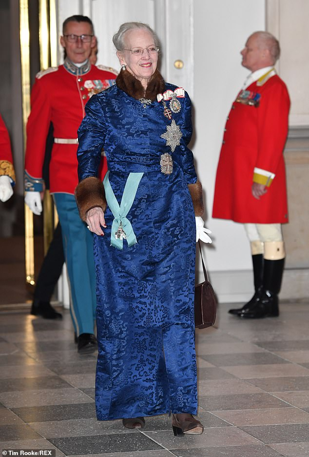 The royal court of the Danish royal family have announced that Queen Margrethe II, 80, will spend Christmas with her youngest son Prince Joachim, 51 and his family this year (pictured in January 2020)