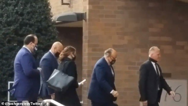 Donald Trump lawyer Rudy Giuliani (second right) appeared in person in federal court in Pennsylvania to argue a case ¿ only to have the state Supreme Court overturn a lower court win for Team Trump