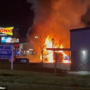 SWAT teams descend on Sonic restaurant in Nebraska after a vehicle burst into flames outside