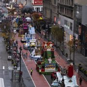 Scaled-down Macy's Thanksgiving Day Parade takes to rainy NYC streets without the excited crowds