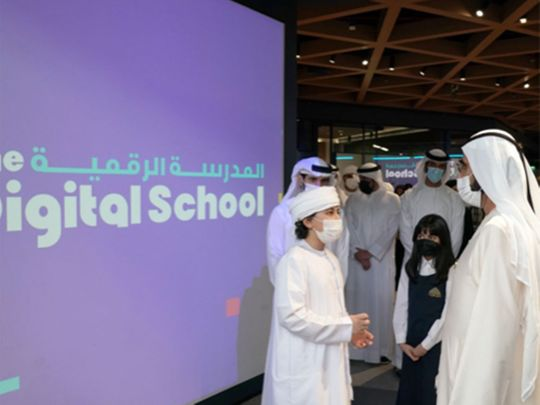 Sheikh Mohammed launches digital school for refugees, disadvantaged students