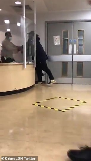 Shocking moment hospital worker kicks and punches patient