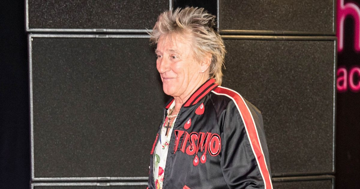 Sir Rod Stewart hobbles about in medical boot after £8,000 ankle operation