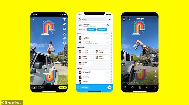 Snapchat launches 'Spotlight' feature to rival TikTok
