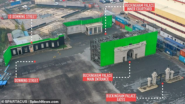 The Crown set shows Buckingham Palace and Downing Street just yards apart