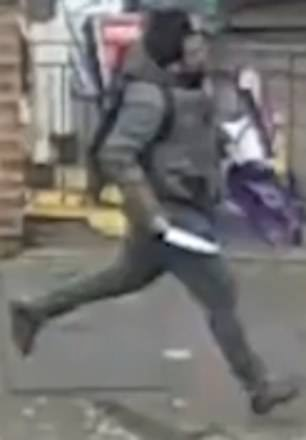 The terrifying moment knifeman was caught on camera as he is jailed for life