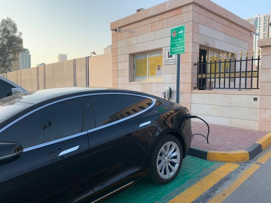 This UAE police station provides unique service to charge electric vehicles