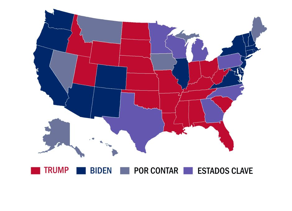 Three states spark a cardiac election: Trump and Biden fight every vote | The NY Journal