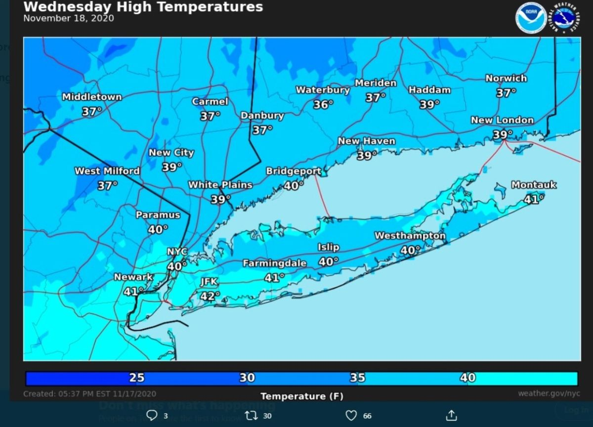 Today it will be colder in New York: winter displaces autumn   The State