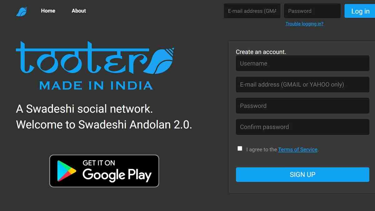 Tooter is an 'Indian' Social Platform That Looks a Lot Like Twitter