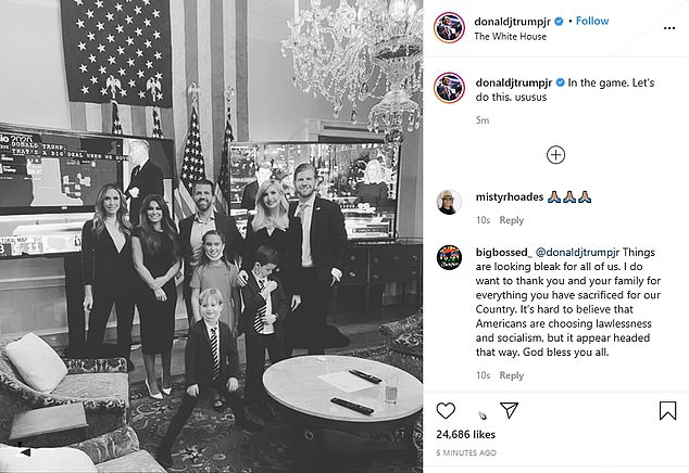 Trump family and billionaire Gristedes heiress Andrea Catsimatidis attend White House viewing party
