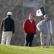 Trump takes a break from Thanksgiving family reunion at Camp David to hit the course again