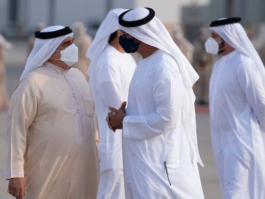 UAE: Mohamed Bin Zayed receives Bahrain's King Hamad
