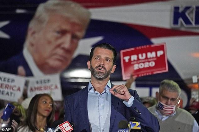 US Election 2020: Donald Trump Jr says dad should 'go to total war'